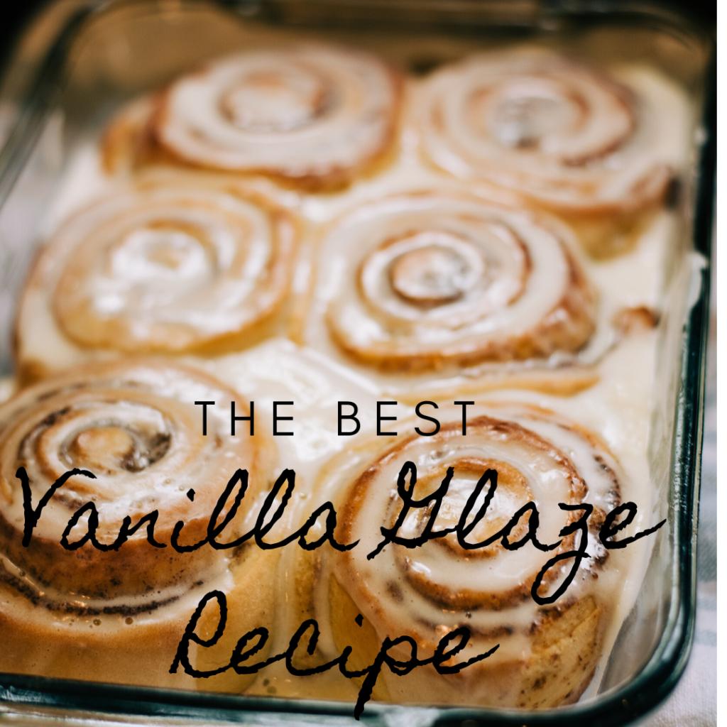 Vanilla Glaze Recipe Pinterest Pin